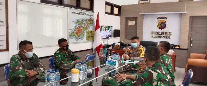 Menjalin Sinergitas TNI -POLRI, Dandim 1624/Flotim Silaturahmi Ke Kapolres Lembata.