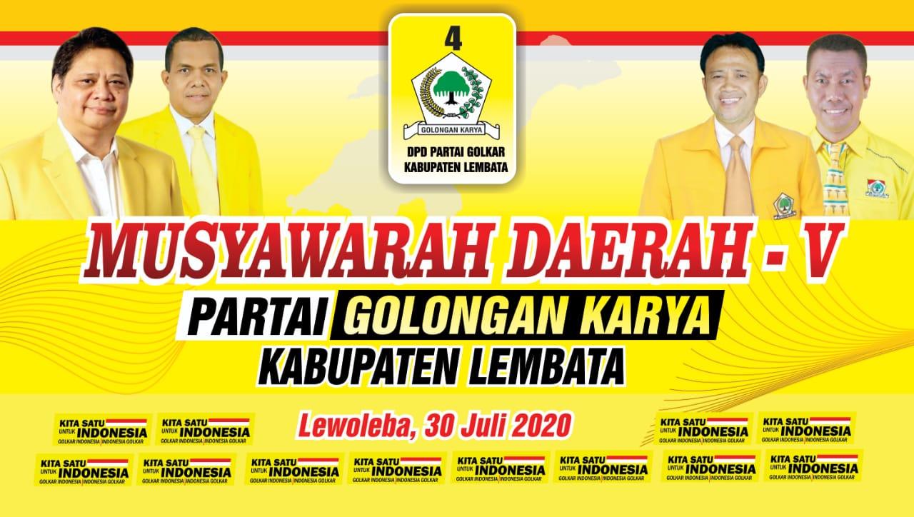 Sunur Percayakan Gero Wakili DPD II Golkar Lembata Di Musda Ke V