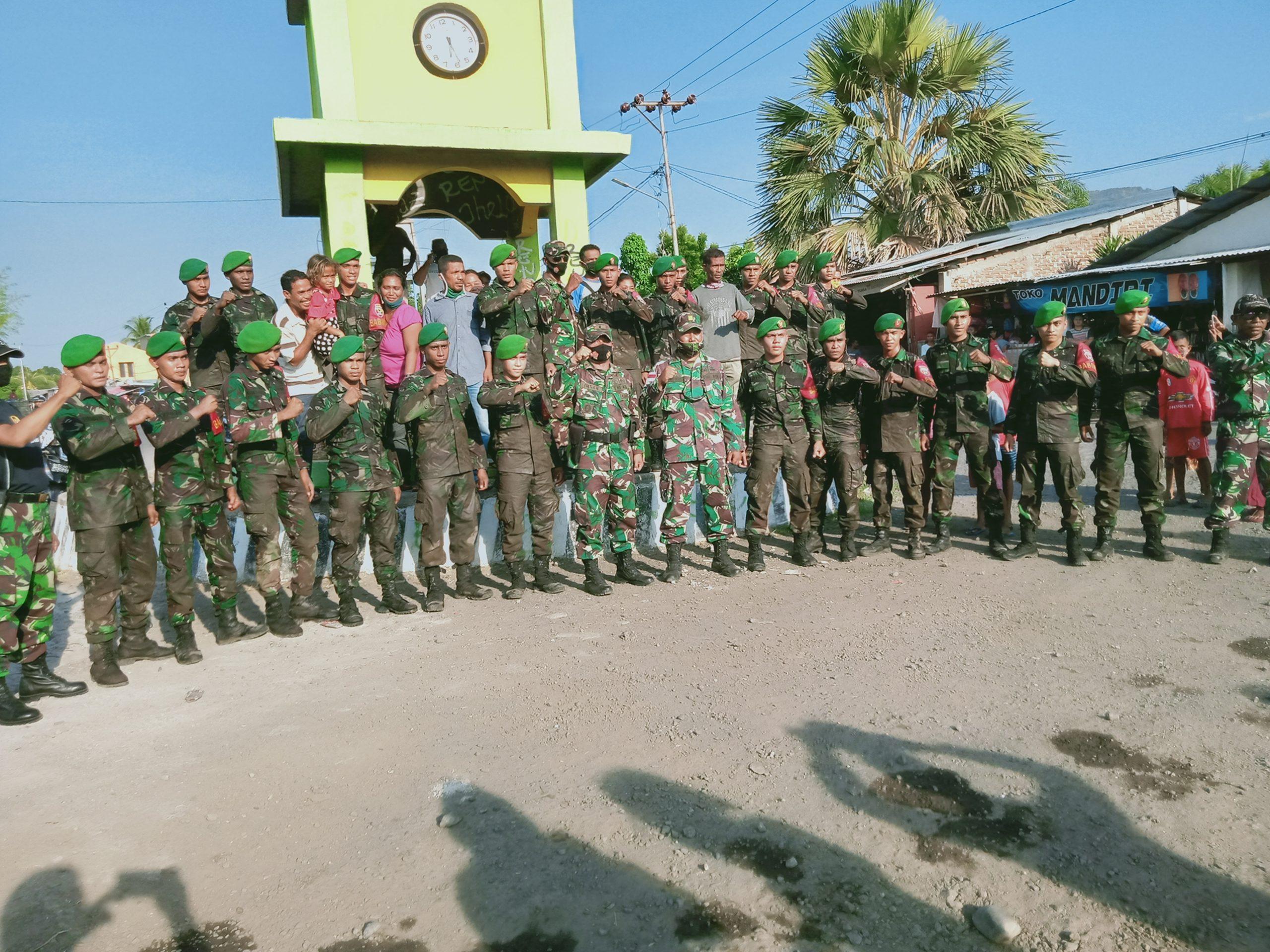 Bintara Remaja, Anggota TNI Tiba Di Lembata