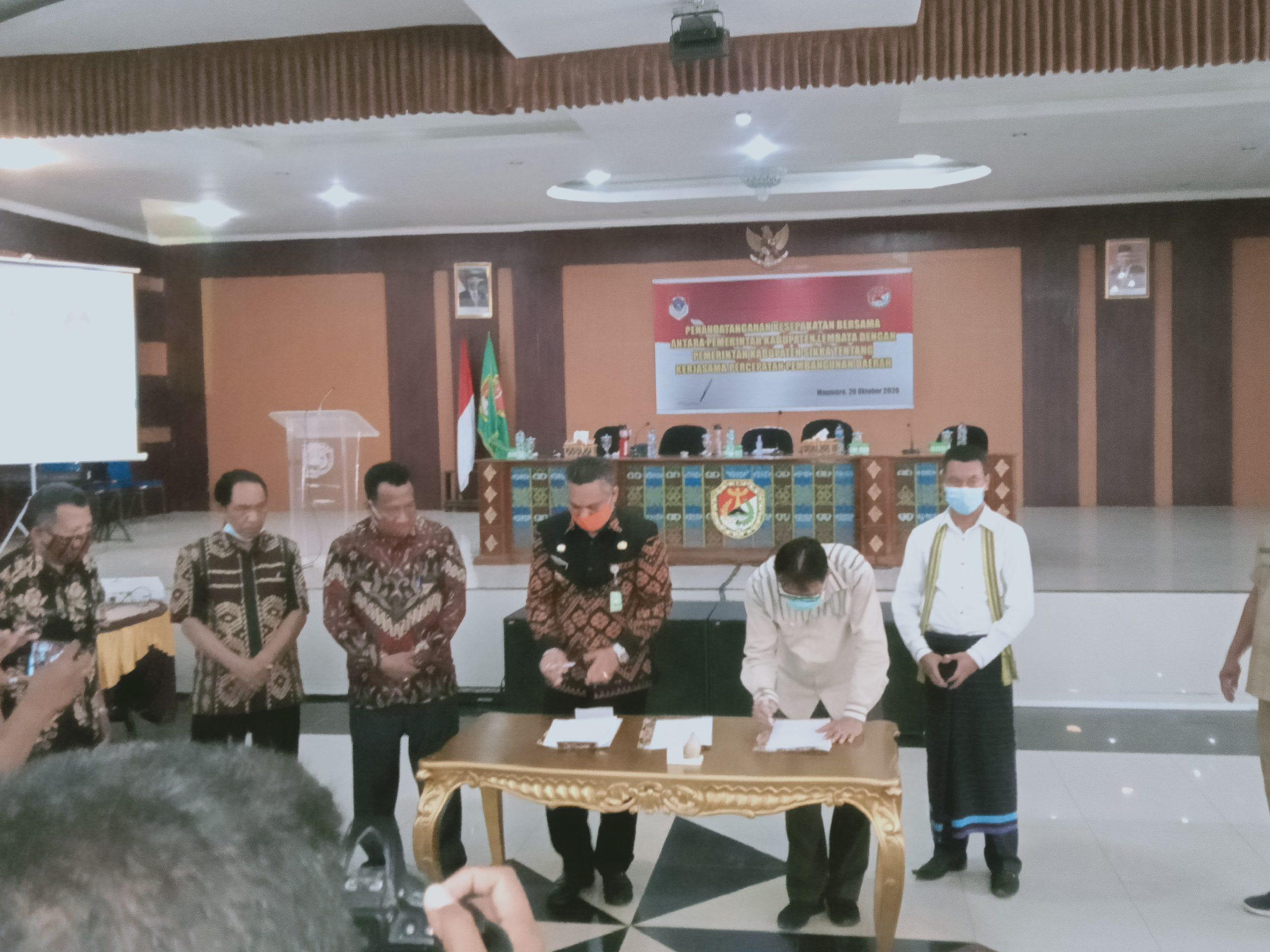 Pimpinan DPRD Kabupaten Lembata Dan Sikka Dukung Kerjasama Kedua Kabupaten