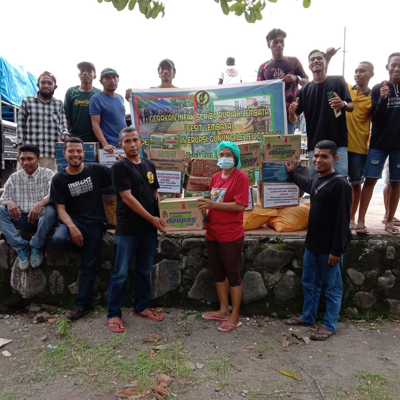Gerakan Infak Seribu Rupiah (Gesit) Lembata, Kembali Salurkan Bantuan Kemanusiaan