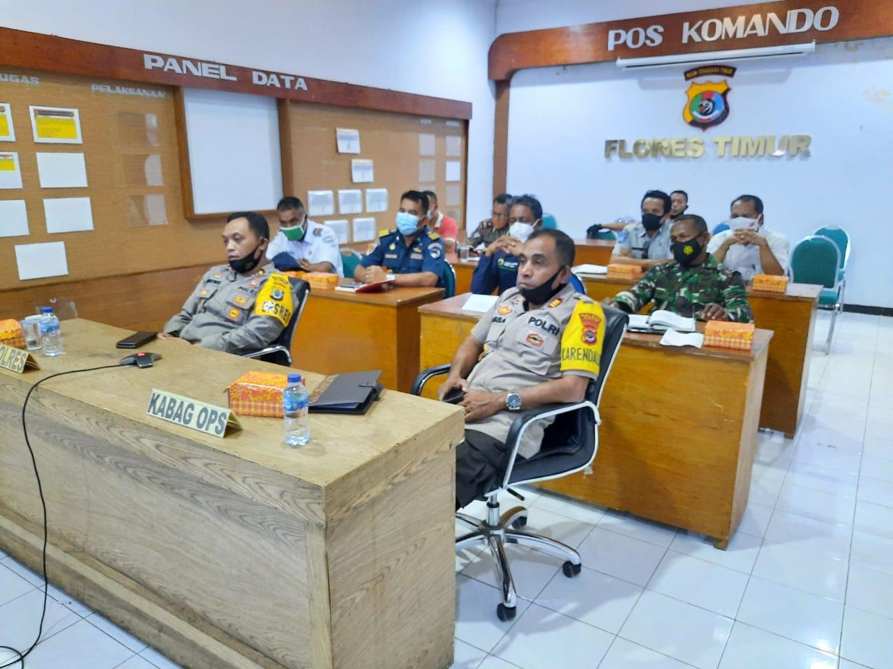 Rapat Koordinasi Persiapan, Operasi Lilin Turangga 2020 Polres Flotim Tekanan Soal Protokol Kesehatan