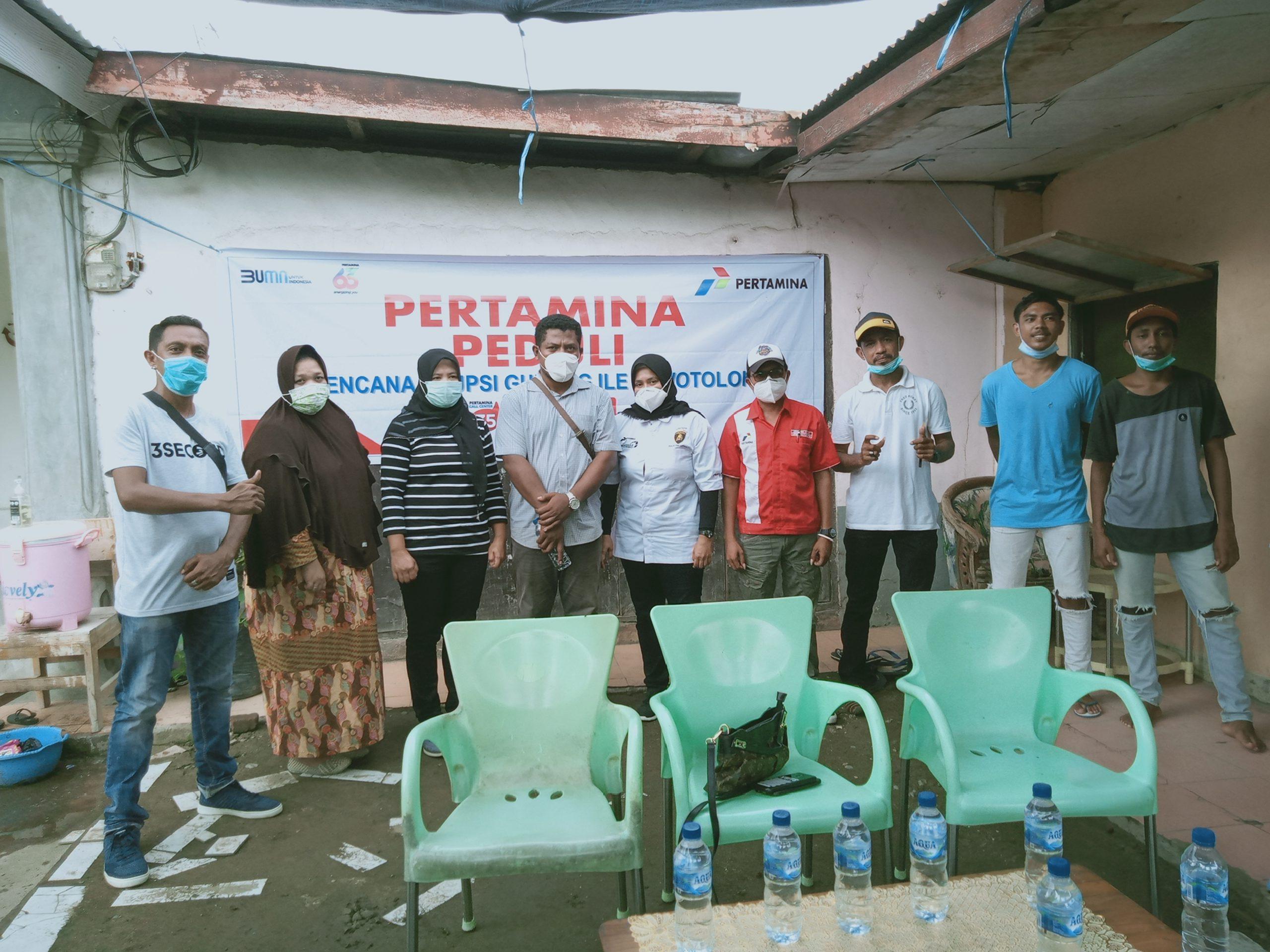 Gandeng Kopral dan PT Hikam, Pertamina Lakukan Aksi Peduli Ile Lewotolok Lembata.