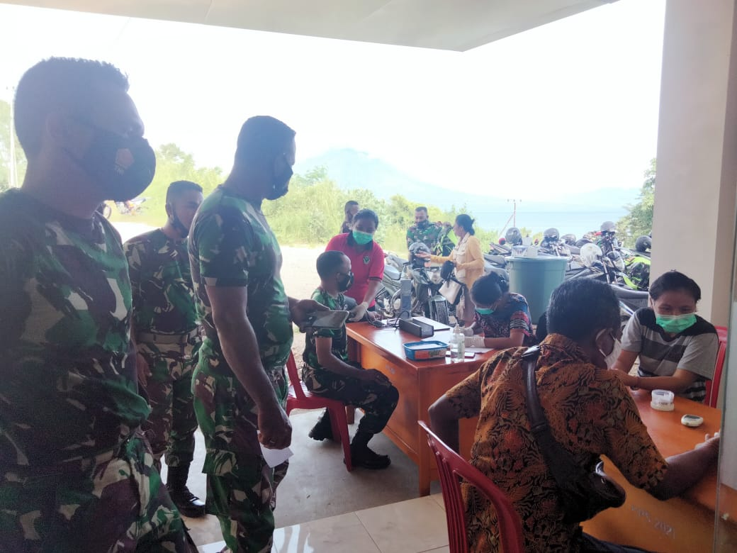 43 Prajurit TNI Wilayah Kodim 1624/Flotim Terima Suntik Vaksin Tahap Pertama