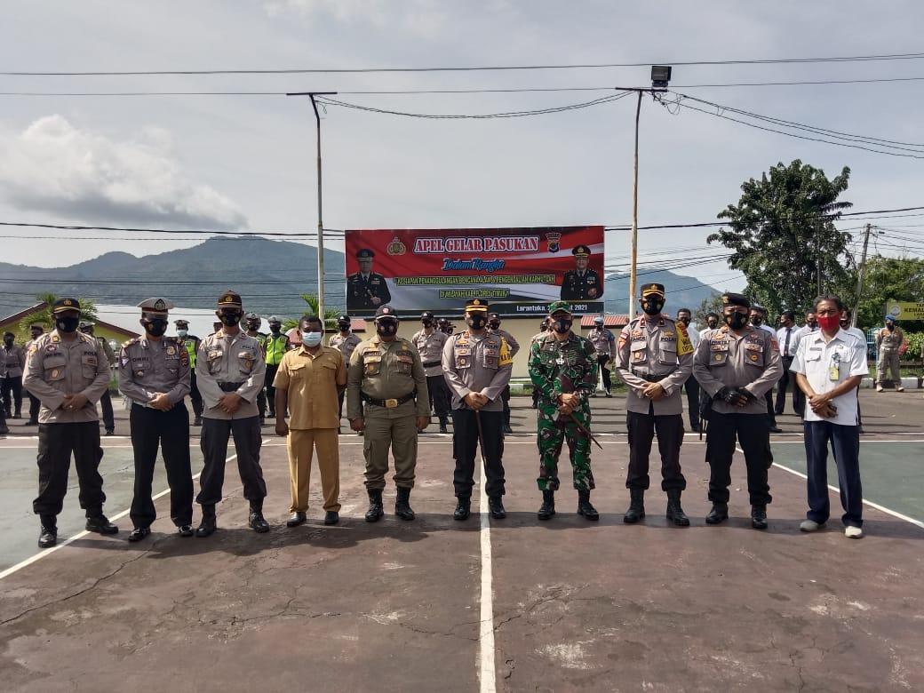 TNI Polri dan Pol PP Apel Gelar Pasukan Kesiapsiagaan Penanggulangan Bencana Alam Dan Pengadilan Karhutlah Di Kabupaten Flotim.