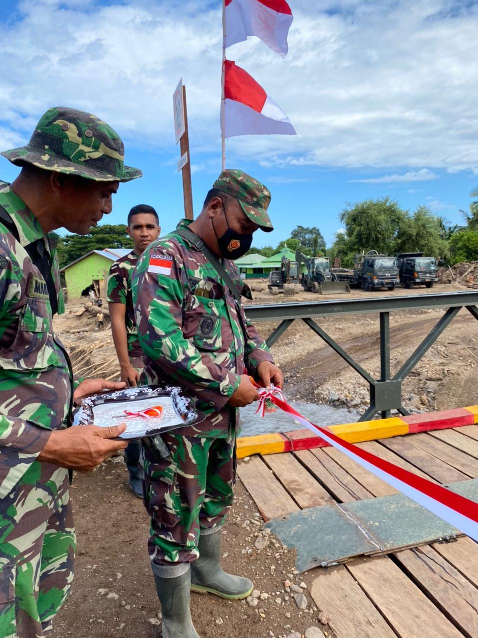 Jembatan Baily Di Adonara, Flotim Di Resmikan, Danramil 1624-02/Adonara ; Ini Jembatan Pertama Yang di Bangun TNI